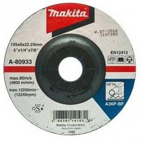 Makita TARCZA SZLIFIERSKA 125x6x22mm  A-80933