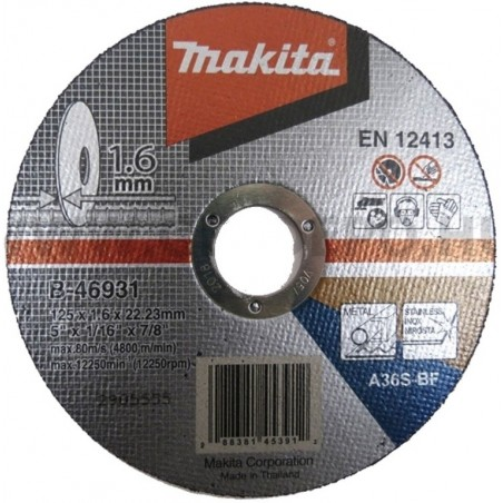 TARCZA TNĄCA DO METALU  STALI INOX 1,6MM  125 MM MAKITA
