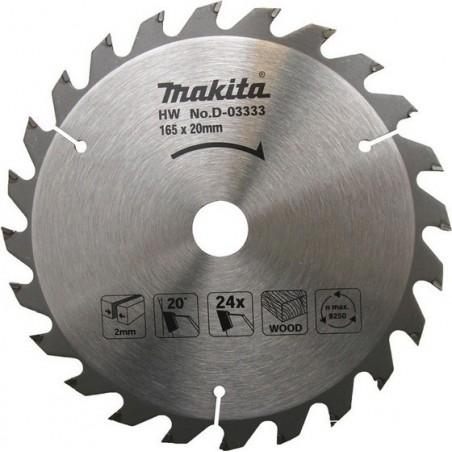 MAKITA D-03333 tarcza do drewna HW 165x20 24Z