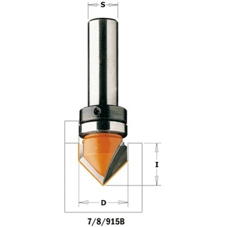 CMT FREZ bruzdujący (90°) z łożyskiem górnym D-16 I-12,7 A-90  S-8  ŁOŻYSKO