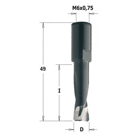 CMT FREZ DOMINO D-5 I-20  L-4  S-M6 X 0,75