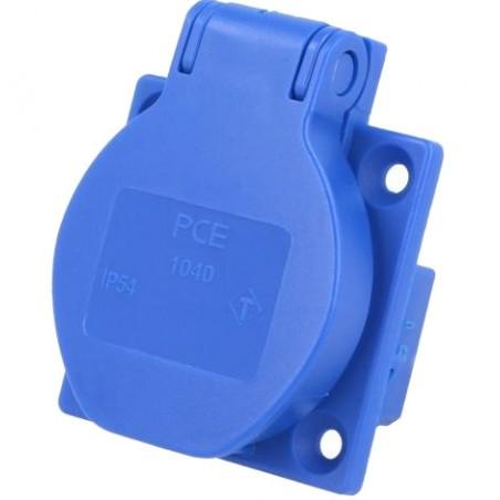 Gniazdo tablicowe 10/16A 2P+Z 230V niebieskie IP54