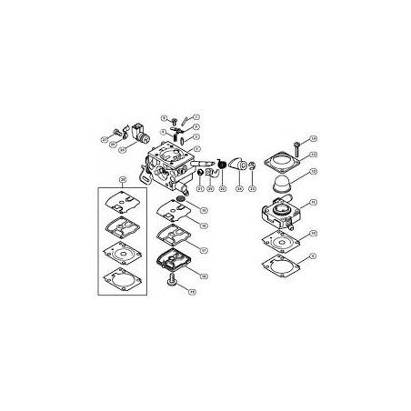 Zestaw membran gaźnika fs360 fs410