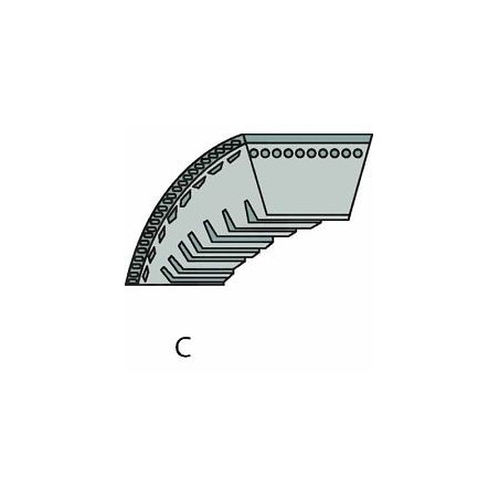 Wąski pasek klinowy 9.7x850 dla Stihl TS460, TS350AVE - 9490 000 7850